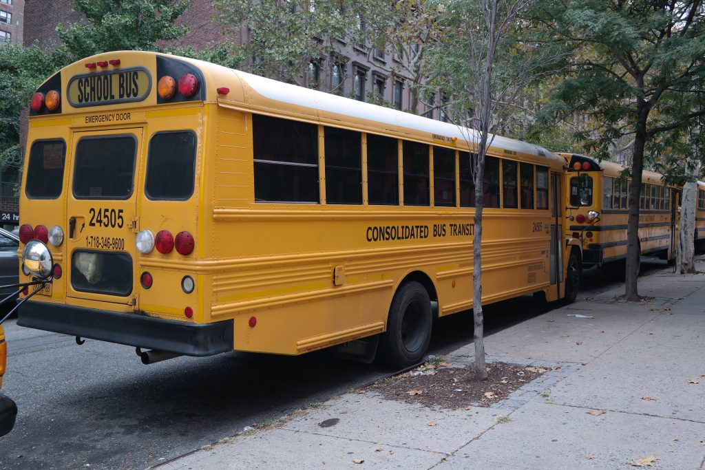 Bus scolaire à New York