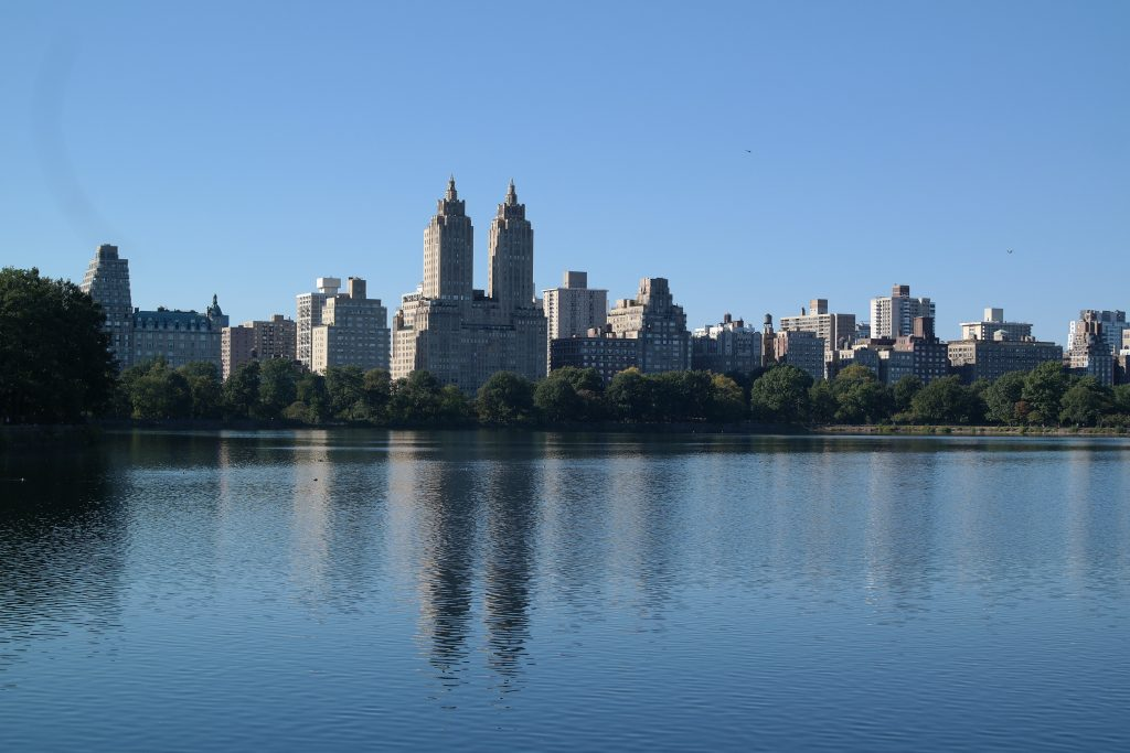 Vue sur le lac de Central Park à New York