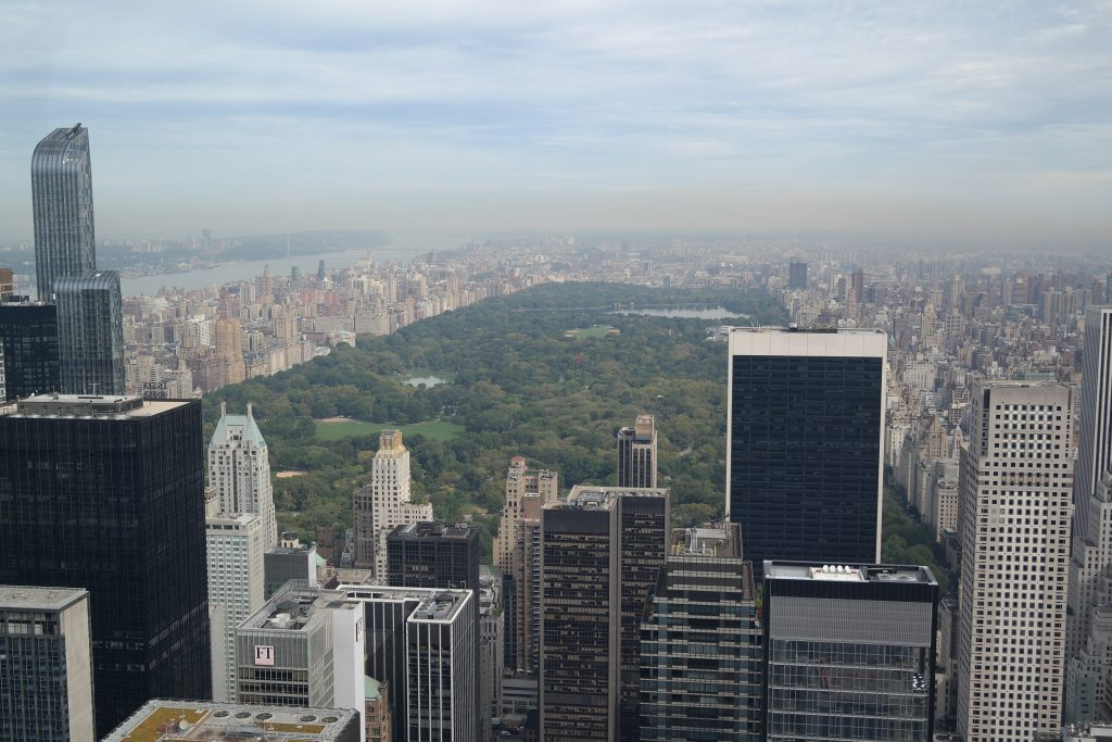 Vue de Central Park depuis le Top of the rock de New York