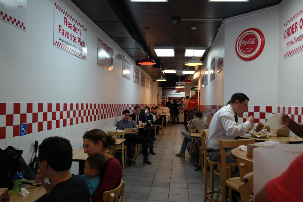 restaurant Five Guys à New York