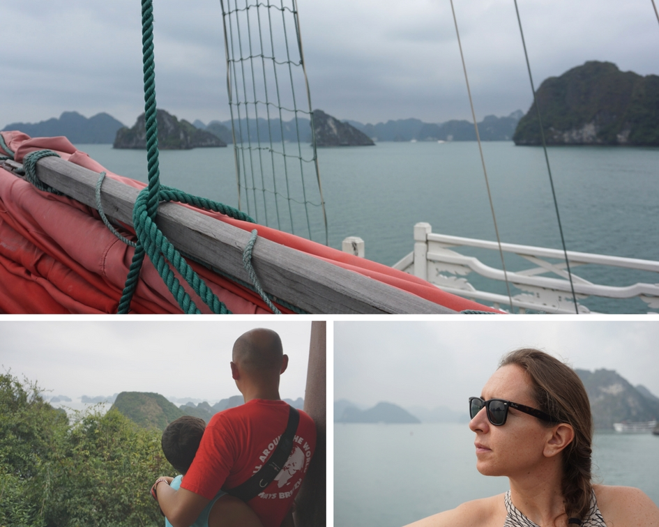 montage photo sur la baie d'Halong
